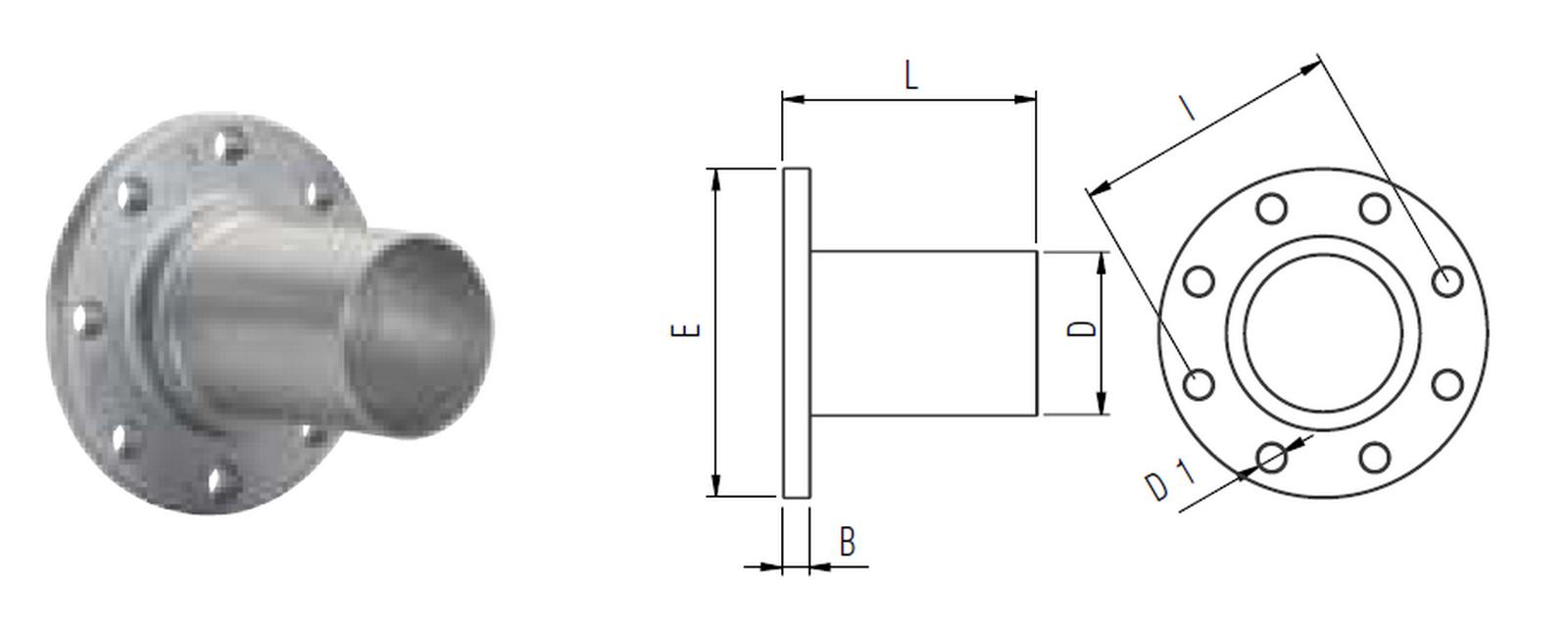 Připojovací příruba 80mm (160/8/18) -