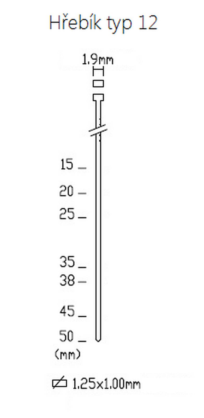 Hřebík Typ 12/15 - 5 000ks -