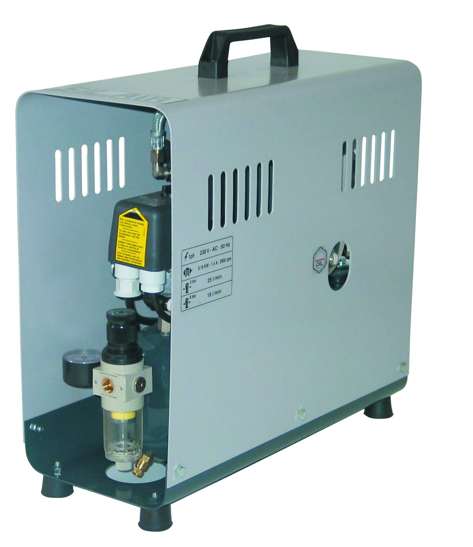 SeA 30-08-4 M - Odhlučnený pístový kompresor Silent Air 0,19 kW