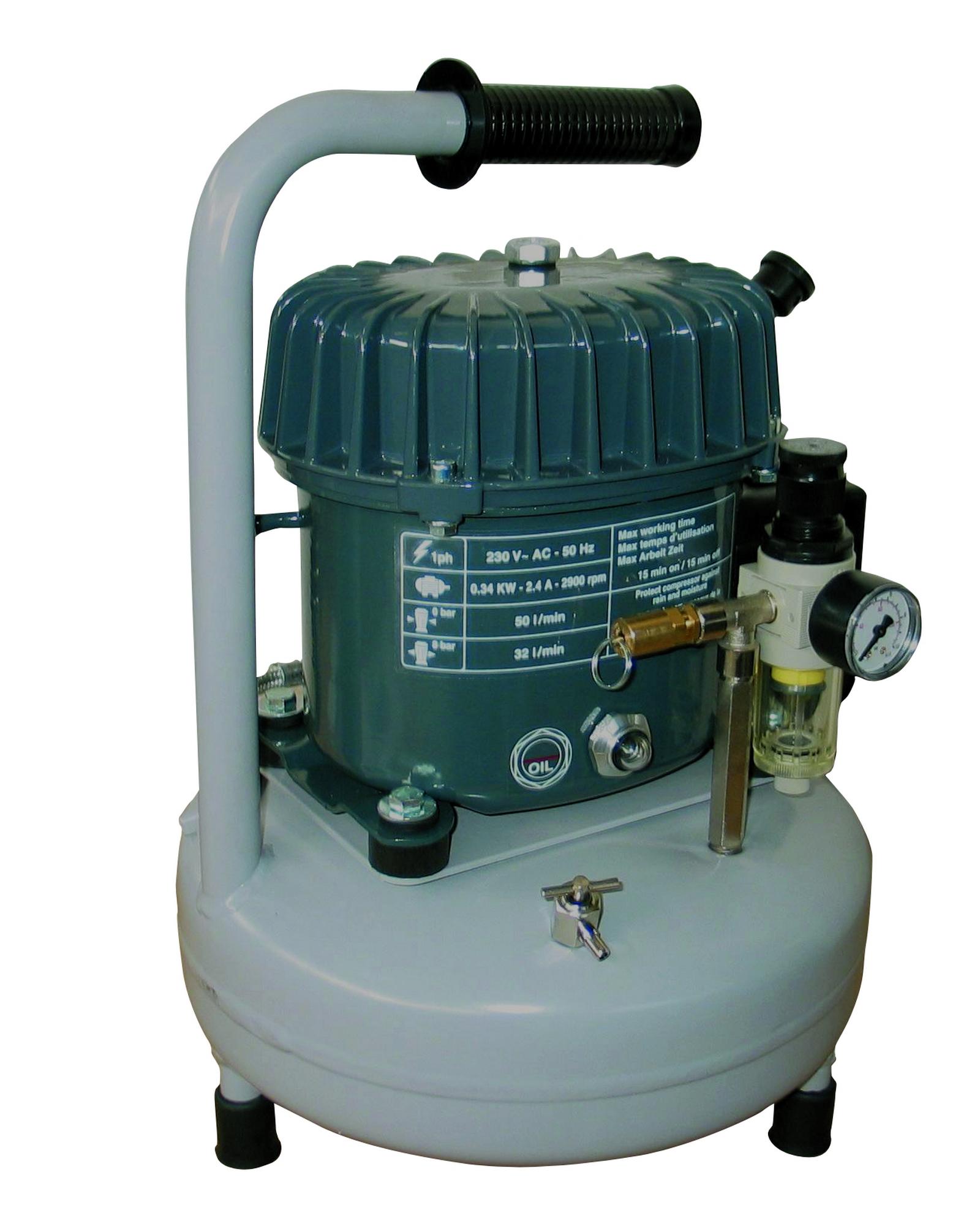 SeA 50-08-9 M - Odhlučnený pístový kompresor Silent Air 0,34 kW