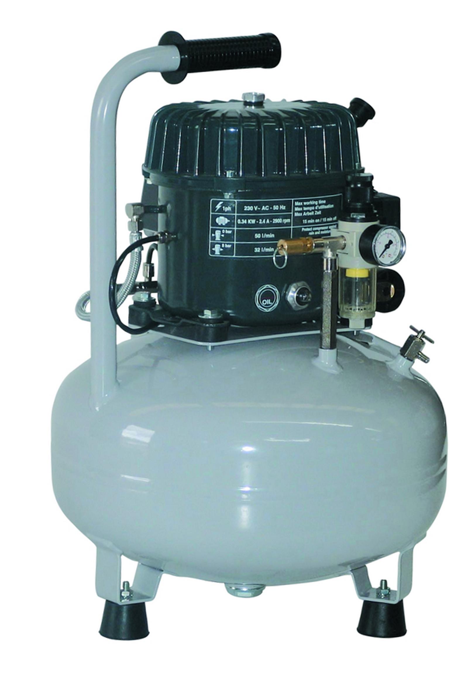 SeA 50-08-24 M - Odhlučnený pístový kompresor Silent Air 0,34 kW