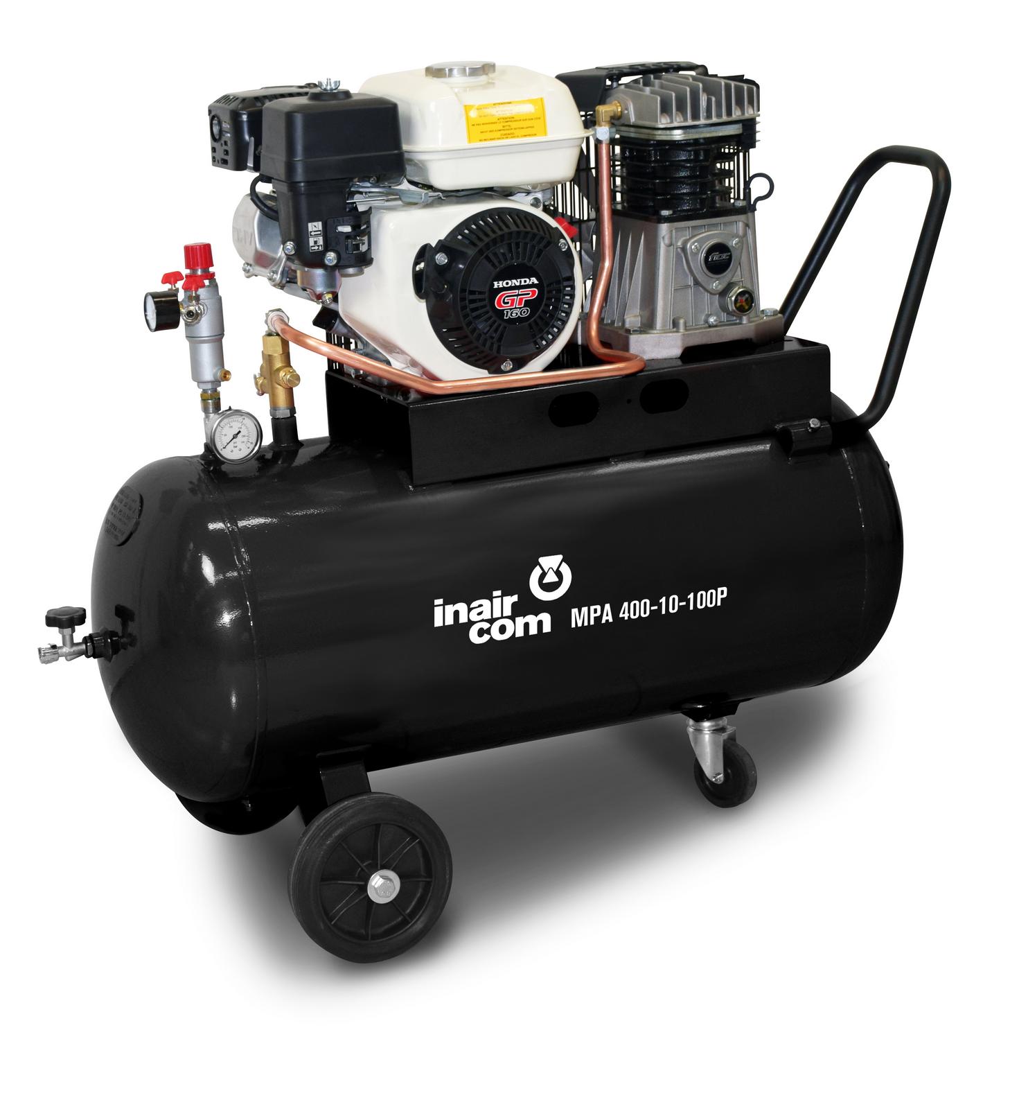 MPA 400-10-100P - Pojízdný pístový benzinový kompresor Mobil Petrol Air