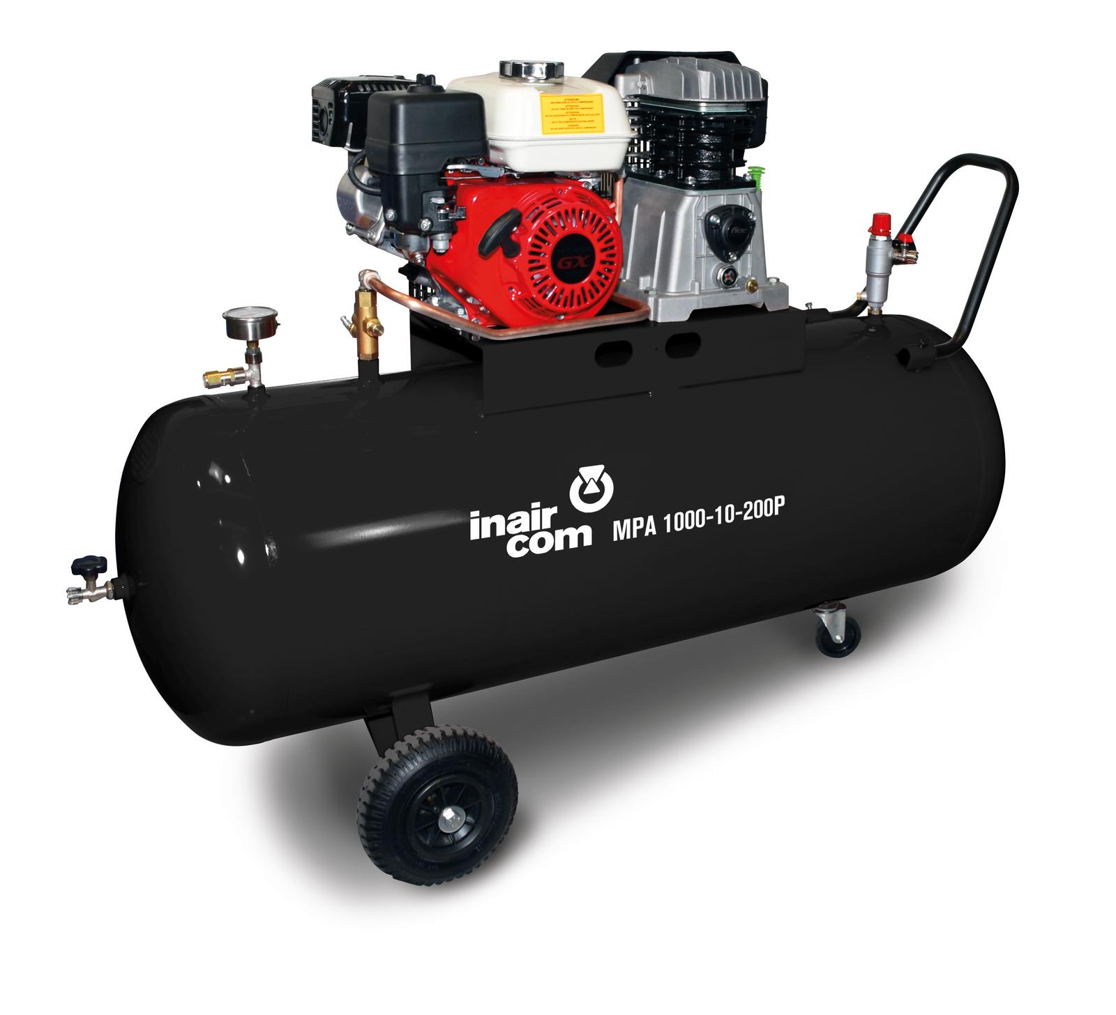 MPA 1000-10-200P - Pojízdný pístový benzinový kompresor Mobil Petrol Air