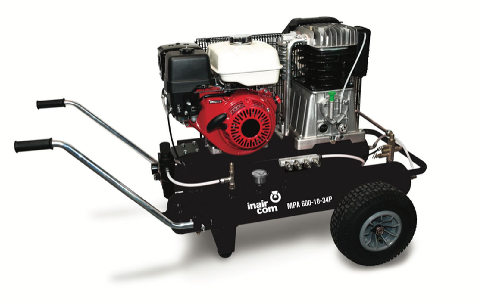 MPA 600-10-34P - Pojízdný pístový benzinový kompresor Mobil Petrol Air