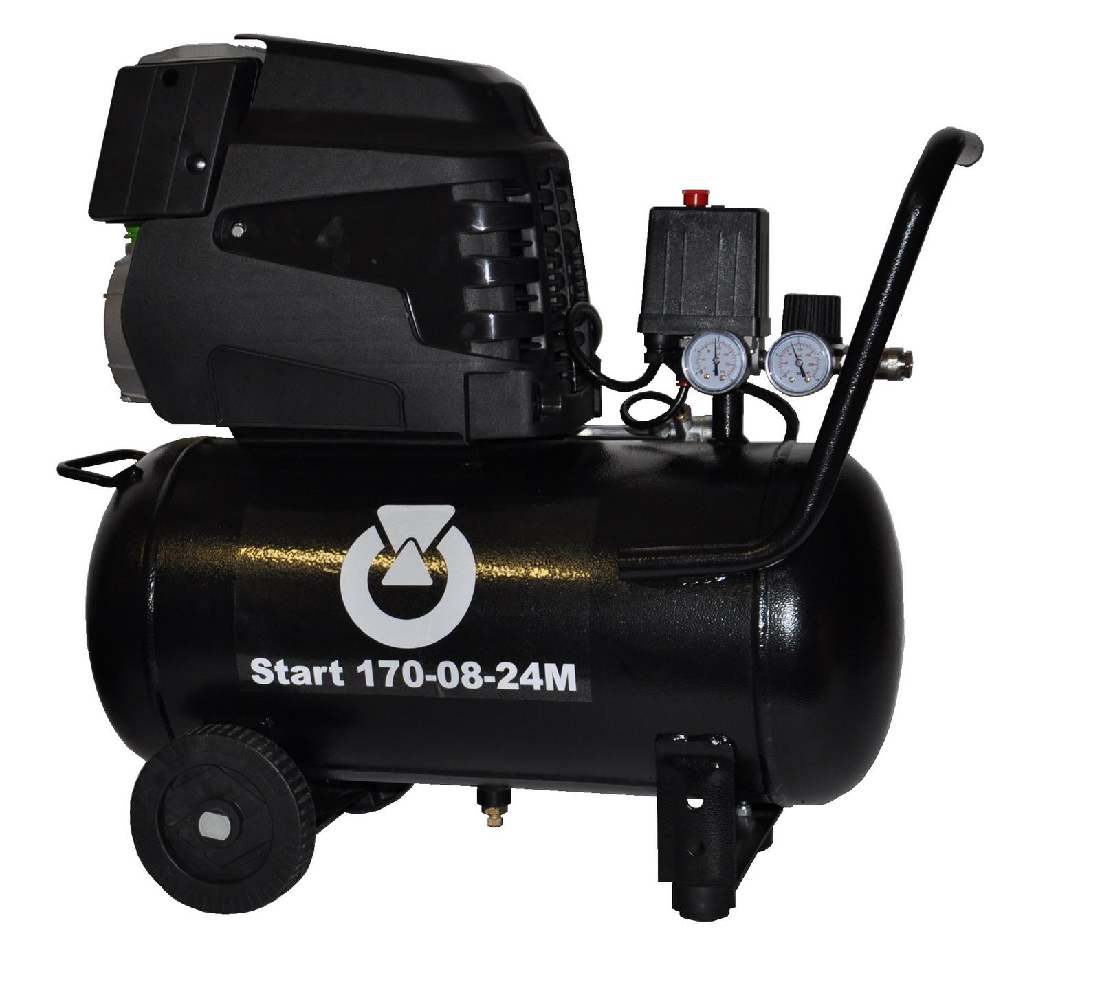 Start 170-08-24M - Pojízdný pístový kompresor START 1,1 kW