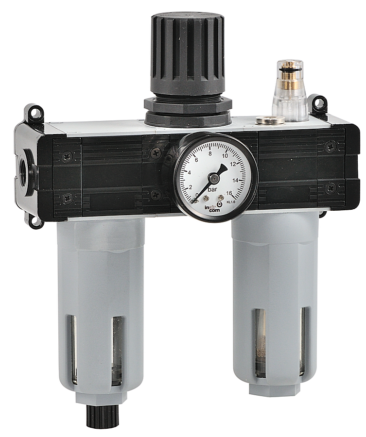 Filtr s regulátorem tlaku a přimazávačem  - 1/2 -