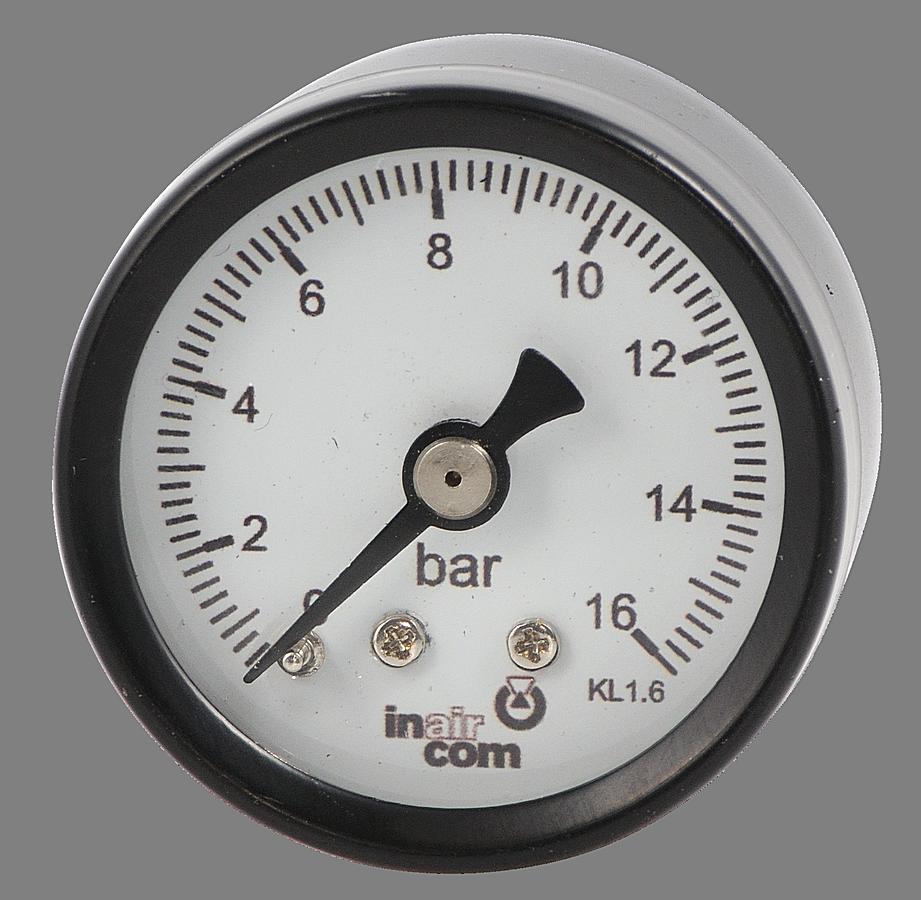 """Manometr zadní vývod 40mm 1/4"""" 0-16bar -"""